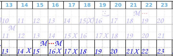 Zyklusmitte Beispiel 3 Zykluskalender