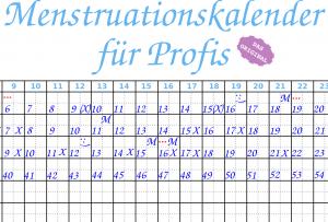 Menstruationskalender für Profis
