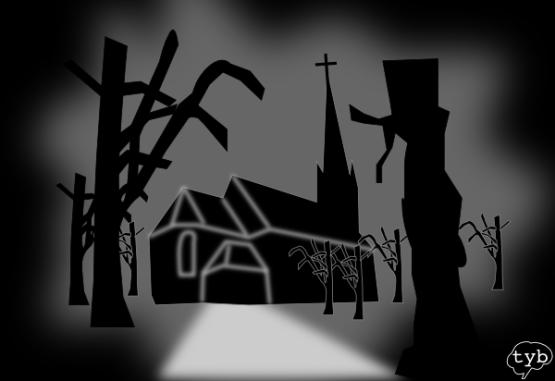 Düstere Kirche Im Wald Hochzeit Traum