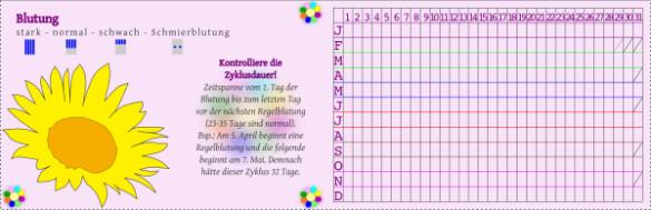Menstruationskalender Sunflower