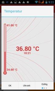 OvuView-App-Temperatureintragung