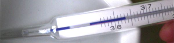gespaltene Skala Thermometer