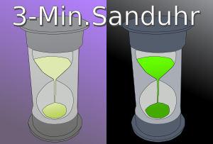 Sanduhr Basalthermometer
