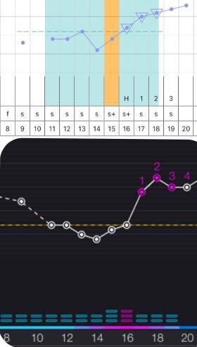 NFP vergleich mit trackle - Zyklusdarstellung